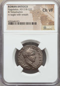 Ancients:Roman Provincial , Ancients: SYRIA. Antioch. Elagabalus (AD 218-222). BItetradrachm. NGC Choice VF....