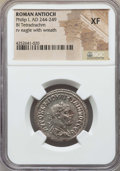 Ancients:Roman Provincial , Ancients: SYRIA. Antioch. Philip I (AD 244-249). BItetradrachm. NGC XF....