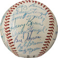 Baseball Collectibles:Balls, 1957 American League All-Star Team Signed Baseball Signed Three Times by Casey Stengel. . ...