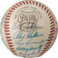 Baseball Collectibles:Balls, 1957 American League All-Star Team Signed Baseball. . ...