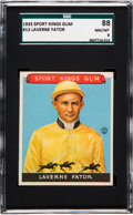 Baseball Cards:Singles (Pre-1930), 1933 Sport Kings Laverne Fator #13 SGC 88 NM/MT 8....