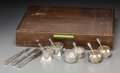Decorative Arts, Continental, Group of Assorted Art Deco Silver and Silver-Plated Fruit Knives, Forks and Salt Cellars, Geislingen, Germany & Sheffield, ... (Total: 30 Items)