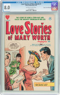 Golden Age (1938-1955):Romance, Love Stories of Mary Worth #1 Mile High Pedigree (Harvey, 1949) CGCVF 8.0 Off-white to white pages....