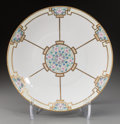 Ceramics & Porcelain, Continental:Modern  (1900 1949)  , A Bavarian Art Nouveau Gilt and Enameled Porcelain Floral Charger, early 20th century. Marks: BAVARIA. 14-1/2 inches dia...