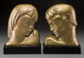 Decorative Arts, Continental, A Pair of Kupur Art Deco Gilt Composite Figural Bookends. Marks:Kupur. 12 inches high (30.5 cm). ... (Total: 2 Items)