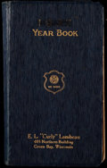 """Football Collectibles:Publications, 1937 Curly Lambeau """"Yearbook"""" Journal - Handed Out When He Sold Insurance...."""