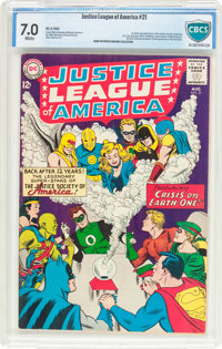 Justice League of America #21 (DC, 1963) CBCS FN/VF 7.0 White pages
