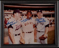 Autographs:Photos, Harmon Killebrew, Willie Mays, & Mickey Mantle Multi Signed Photograph. ...