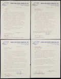 Autographs:Others, Signed Autograph Signing Contracts Including Ernie Banks, GaryCarter, and Larry Csonka (4). ...