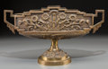 Decorative Arts, Continental, A Large Art Deco Gilt Bronze Jardinière, first half 20th century.10 h x 17-3/4 w x 5-1/2 d inches (25.4 x 45.1 x 14.0 cm). ...