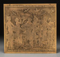 Bronze, A Howard Frech Art Deco Acid-Etched Gilt Metal Plaque, late 20th century. Marks: HOWARD FRECH. 14 x 14-3/4 inches (35.6 ...