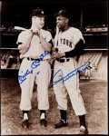 Autographs:Photos, Mickey Mantle & Willie Mays Signed Photograph. ...