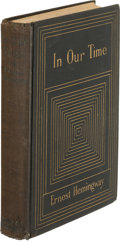 Books:Literature 1900-up, Ernest Hemingway. In Our Time. New York: Boni &Liveright, 1925. First expanded edition of Hemingway's firstregular...