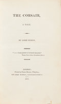 Books:Literature Pre-1900, Lord Byron. The Corsair. London: 1814. First edition, secondissue, and seventh edition bound into one volume.. ...