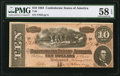 Confederate Notes:1864 Issues, T68 $10 1864 PF-20 Cr. 546.. ...