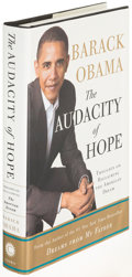 Books:Biography & Memoir, Barack Obama. The Audacity of Hope. New York: [2006]. Firstedition, signed....