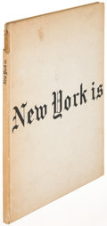 Books:Photography, Robert Frank [photographer]. New York Is. New York: [1959.]First edition....