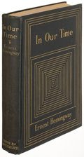 Books:Literature 1900-up, Ernest Hemingway. In Our Time. New York: 1925. Firstexpanded edition. ...