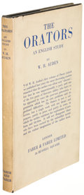 Books:Literature 1900-up, W. H. Auden. The Orators: An English Study. London:[1932]. First edition....