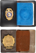 Books:Furniture & Accessories, [Mickey Spillane]. Mickey Spillane's South Carolina SecurityOfficer Badge, New York Detective Badge, and South CarolinaConce...