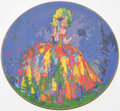 Autographs:Others, Royal Doulton LeRoy Neiman Signed Plate. ...