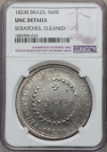 Brazil, Brazil: Pedro I 960 Reis 1824-R UNC Details (Scratches Cleaned) NGC,...
