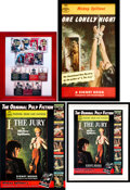 Books:Furniture & Accessories, [Mickey Spillane]. Lot of Four Publisher's Promotional Posters....(Total: 4 Items)