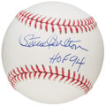 "Autographs:Baseballs, Steve Carlton ""HOF 94"" Single Signed Baseball. ..."