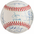 Autographs:Baseballs, 1989 Oakland A's Team Signed Baseball. ...