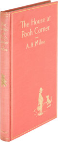 Books:Children's Books, A. A. Milne. The House at Pooh Corner. New York: E. P.Dutton & Co, [1928]. First edition, one of a very few wit...