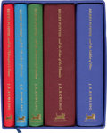 Books:Children's Books, J. K. Rowling. First Five Harry Potter Deluxe Editions -Inscribed.... (Total: 5 Items)