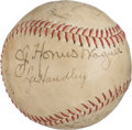Baseball Collectibles:Others, 1945 Pittsburgh Pirates Partial Team Signed Baseball with HonusWagner.. ...