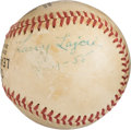 "Baseball Collectibles:Balls, 1955 Napoleon ""Larry"" Lajoie Signed Baseball.. ..."