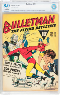 Bulletman #12 (Fawcett Publications, 1943) CBCS Conserved VF 8.0 White pages