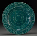 Ceramics & Porcelain, American:Modern  (1900 1949)  , A Paul Schreckengost Pottery Zodiac Charger for Gem Clay Forming,Sebring, Ohio, circa 1939. Marks: GEM CLAY FORMING CO., ...