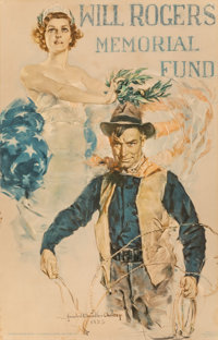 Howard Chandler Christy (American, 1872-1952) Will Rogers Memorial Fund poster, 1935 Lithograph in c