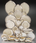 Ceramics & Porcelain, American:Modern  (1900 1949)  , A Three Hundred and Seven Piece Assembled Taylor, Smith &Taylor Service with Sixty-Three Associated Silvered Dishes, 20thc... (Total: 370 Items)