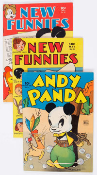 New Funnies Group of 49 (Dell, 1944-49) Condition: Average FN/VF.... (Total: 49 Comic Books)