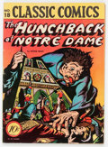 Golden Age (1938-1955):Classics Illustrated, Classic Comics #18 The Hunchback of Notre Dame - Original Edition(Gilberton, 1944) Condition: VG/FN....