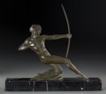 Sculpture, French/Belgian School (20th Century). Archer. Bronze with blackish-green patina. 10-1/2 inches (26.7 x 25.4 cm) high on ...