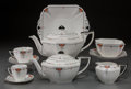 Ceramics & Porcelain, British:Modern  (1900 1949)  , A One Hundred and Nine Piece Shelley Coral Daisy Pattern TeaService with Associated Tray, Staffordshire, Englan... (Total: 110Items)