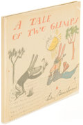 Books:Children's Books, Ludwig Bemelmans. A Tale of Two Glimps. [New York: circa1946]. First edition....