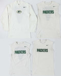 Football Collectibles:Uniforms, Green Bay Packers Nike Dri-Fit Practice Shirts (4). ...