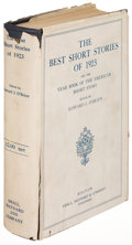Books:Literature 1900-up, [Ernest Hemingway, contributor]. The Best Short Stories of1923. Boston: [1924]. First edition, containing Hemin...