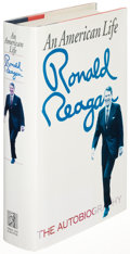 Books:Biography & Memoir, Ronald Reagan. An American Life. New York: [1990]. Firstedition, inscribed....