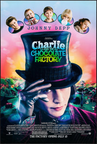 """Charlie and the Chocolate Factory & Other Lot (Warner Brothers, 2005). One Sheets (2) (27"""" X 40"""") DS Advan..."""