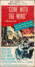 "Movie Posters:Academy Award Winners, Gone with the Wind (MGM, R-1954). Three Sheet (41"" X 78.5"").Academy Award Winners.. ..."