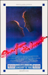 "One from the Heart (Zoetrope, 1982). Preview One Sheet (25.75"" X 39.5""). Romance"