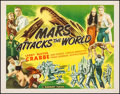 "Movie Posters:Science Fiction, Mars Attacks the World (Filmcraft, R-1950). Half Sheet (22"" X 28"").Science Fiction.. ..."