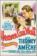 "Movie Posters:Comedy, Heaven Can Wait (20th Century Fox, 1943). One Sheet (27"" X 41"").Comedy.. ..."